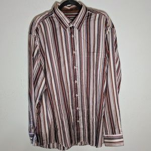 Bugatchi Uomo Striped Long Sleeve Button Up